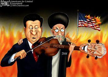 China, Iran, Joe Biden, AF Branco, Political Cartoons,